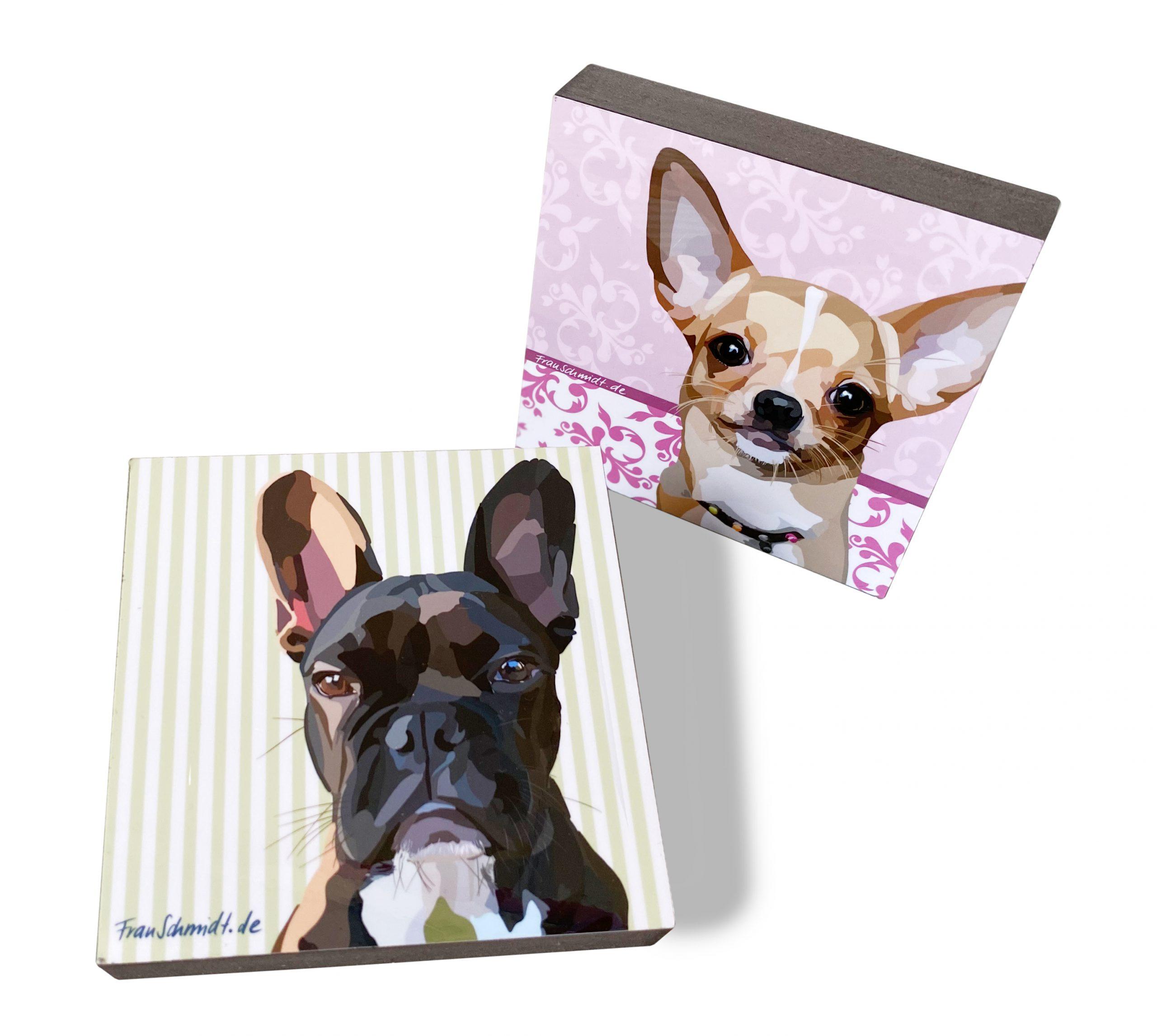 FrauSchmidt-Tierisch-feines-Design-deine Hunde Spike und Sissy